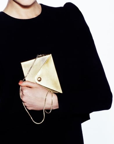 Metal Envelope Bag paired with the Ever After Chain