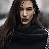 Mijo had us lusting over deep aubergine lips for Fall. Source: Le 21ème | Adam Katz Sinding