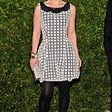 Christina Ricci wore a crochet dress.