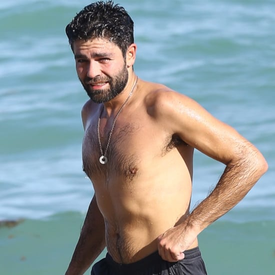 Adrian Grenier Shirtless at the Beach in Miami December 2015