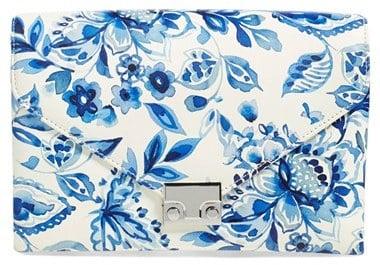 Loeffler Randall 'Lock' Floral Print Leather Clutch ($375)