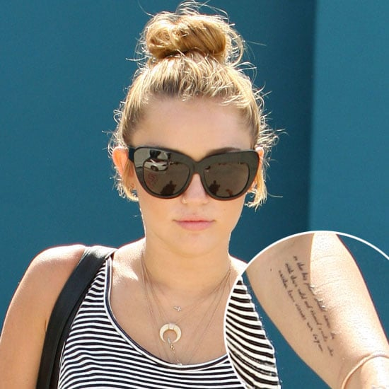 Miley Cyrus Turns to President Roosevelt For Her Latest Tattoo