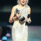 """Taylor took home the award for best female video for """"You Belong With Me"""" in 2009."""