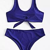 Romwe Cut-Out Bikini Set