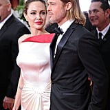 Brad Pitt and Angelina Jolie at the 2012 Golden Globe Awards.