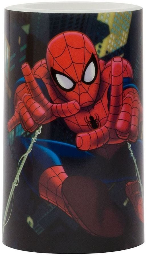 Spider-Man Flameless Pillar Candle