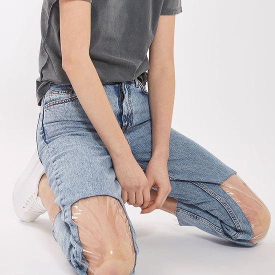 Topshop Clear-Knee Mum Jeans