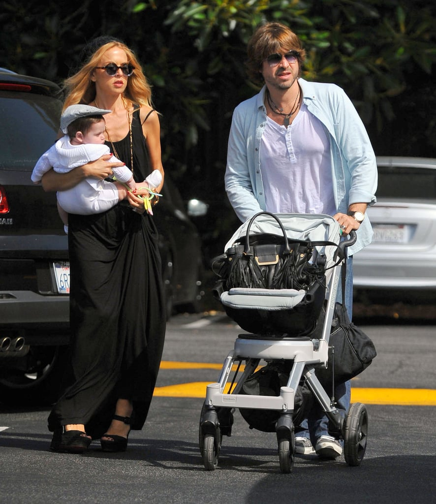 Rachel Zoe ran errands with her boys, Rodger and Skyler, in LA.