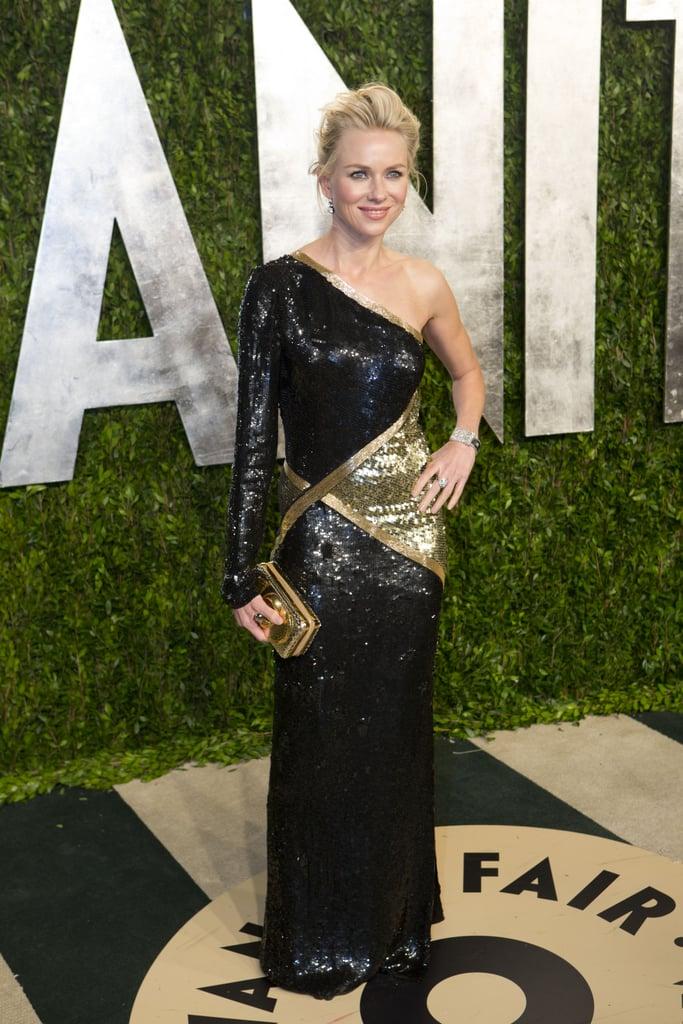 Naomi Watts arrived at the Vanity Fair Oscar party.