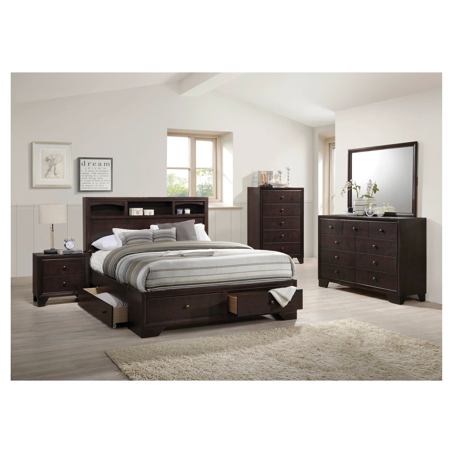Madison II Queen Bed With Storage | Small Bedroom Cramping ...
