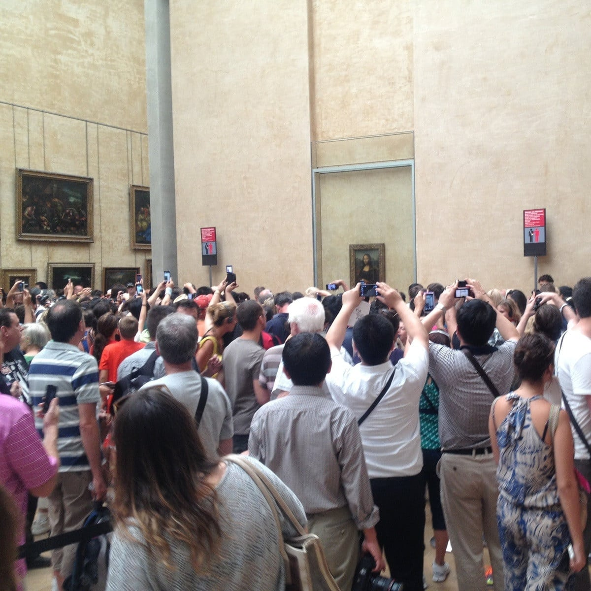 When You Try to See the Mona Lisa up Close . . .