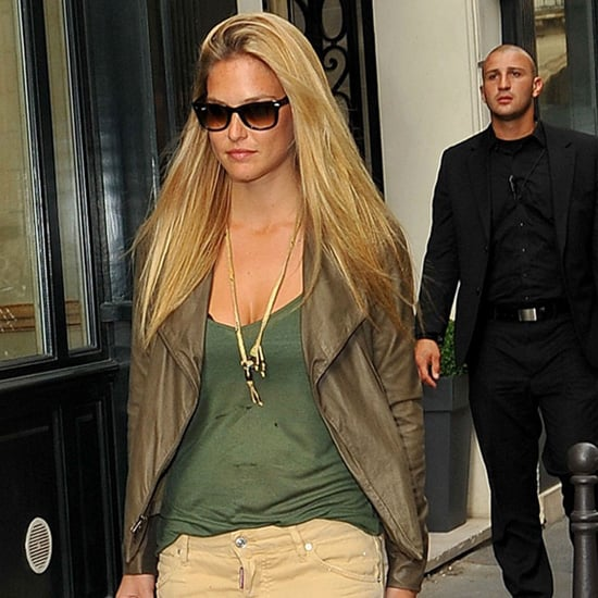 Bar Refaeli Wearing Khaki Jeans