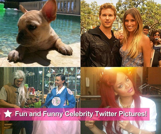 It's been yet another great week of celebrities sharing their favourite moments on Twitter. Victoria Beckham showed off her dog Scarlet's cuteness, while Renee Bargh caught up with fellow Aussie ex-pat Ryan Kwanten. Miranda Kerr went to South Korea for work and Rihanna had a Little Mermaid moment. Click through to see all the fun snaps, and don't forget to follow us on Twitter and like us on Facebook for exciting news and photos!