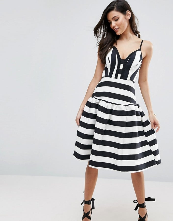ASOS Stripe Trumpet Hem Midi Prom Dress | Best Summer Dresses From ...