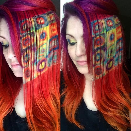 Rainbow Hair Paintings Inspired by Famous Art