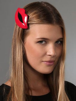 Lips and Kiss Mark Hair Accessories Trendy For Fall