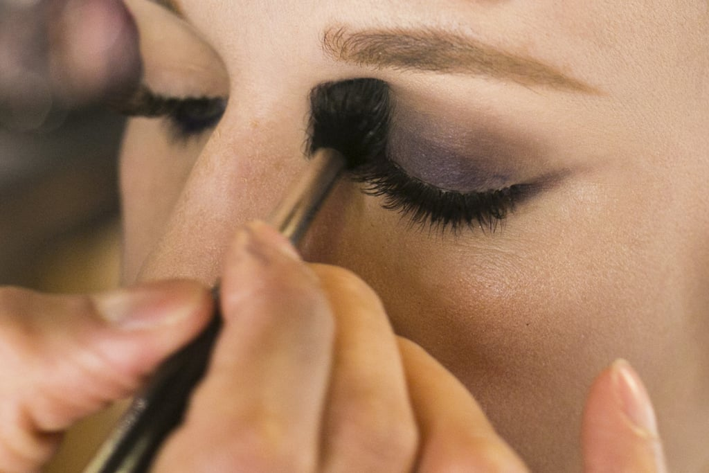 "Jennings's trick to blending out a smoky eye is to use a taupe shadow in the crease. ""Take a neutral shadow and blend it so now the purple blends into this taupe color,"" he explains. Then use the brand's Eye Shadow in Omega ($16), which is his go-to neutral shade. This step helps transition the dark shadow to the skin under the brows."