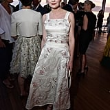 Staying true to her feminine-inspired Cannes style, Kirsten Dunst opted for a midlength fit-and-flare at the Vanity Fair and HBO dinner.