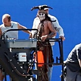 Johnny Depp Goes Up in the Air For Lone Ranger