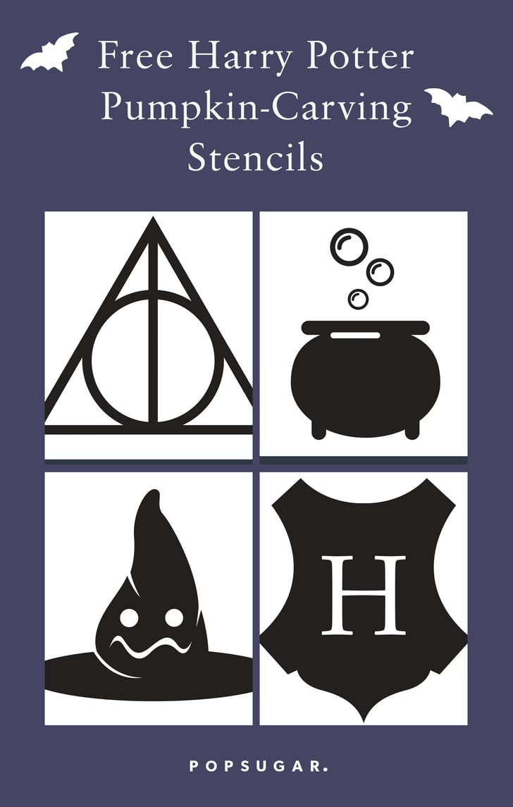 photograph about Harry Potter Stencils Printable referred to as Free of charge Harry Potter Pumpkin Carving Stencils POPSUGAR Tech