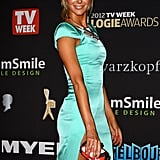 Jennifer Hawkins Legs It to the Logies in Bright Colours With a Thigh High Split