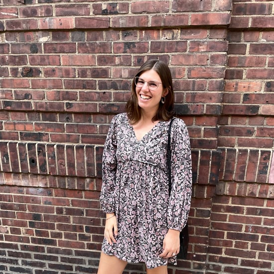 Old Navy Floral-Print V-Neck Long-Sleeve Swing Dress Review