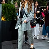 Selena Gomez Wearing a Frame Suit in NYC