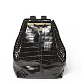 Drawstring Alligator Backpack in Black