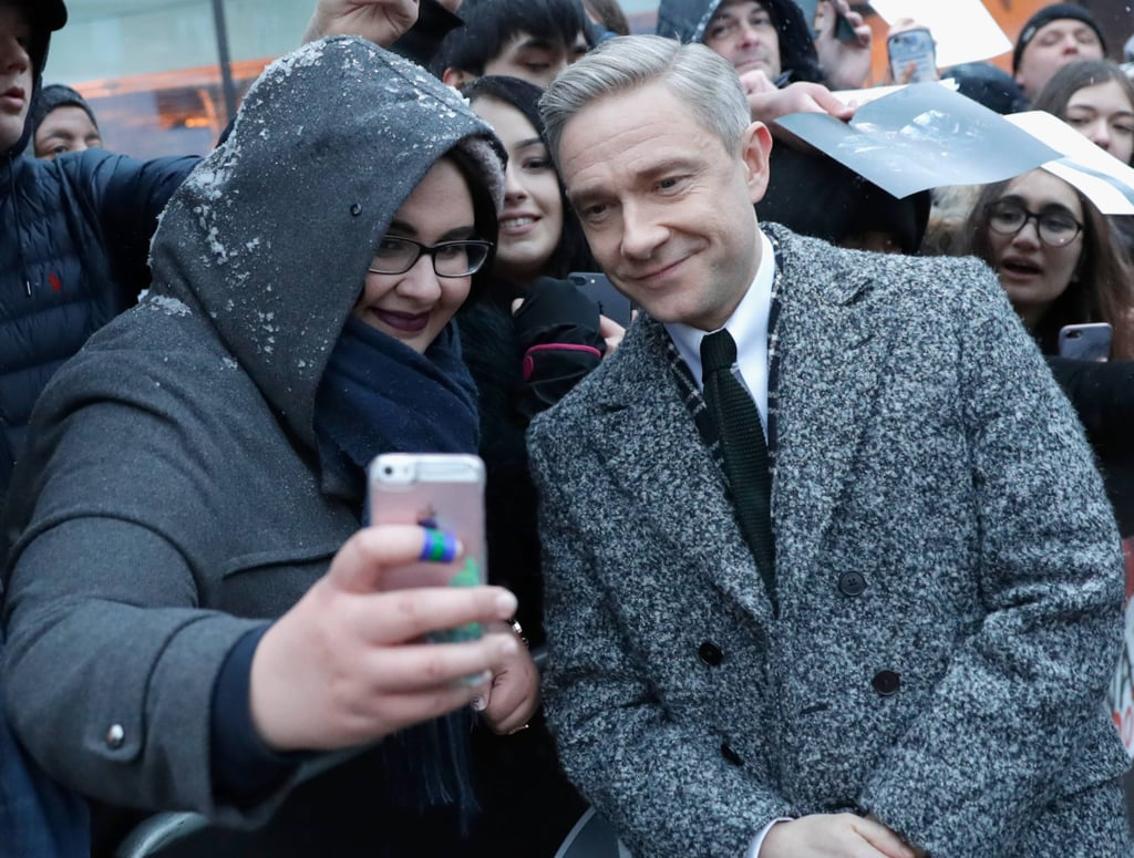 Celebrities in the Snow at the Empire Awards