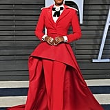 Janelle Monae Christian Siriano Suit Oscars Afterparty 2018