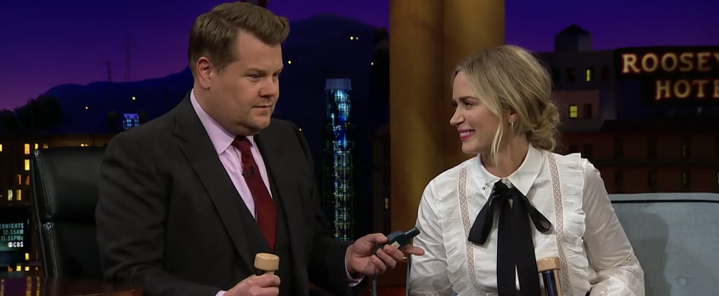 James Corden and Emily Blunt Shock Therapy Quiz | Video