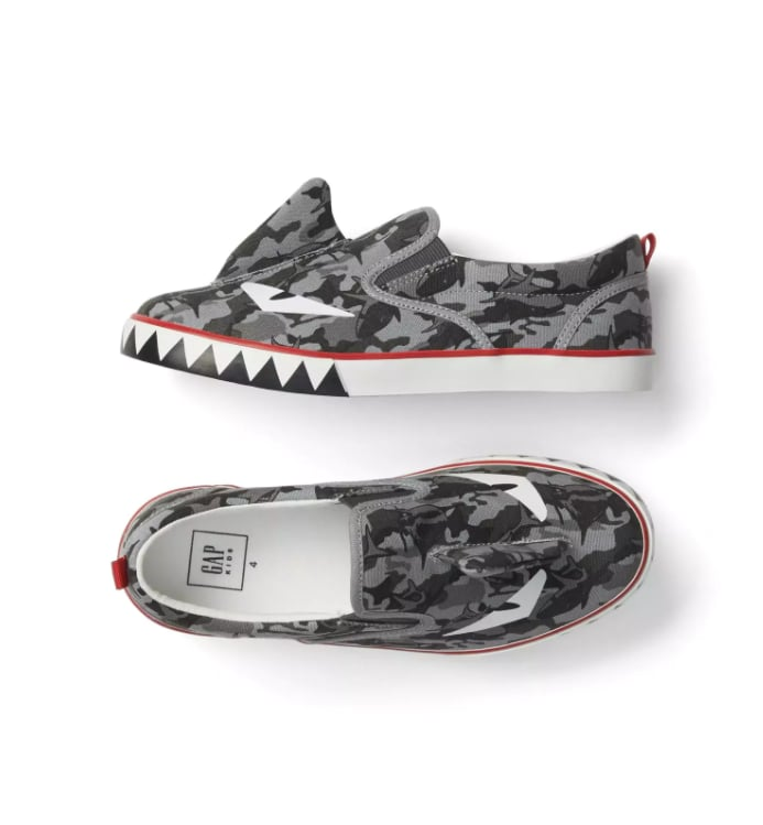 Shark Face Slip-On Sneakers