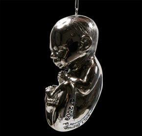 Silver Fetus Ornament from The Flaming Lips