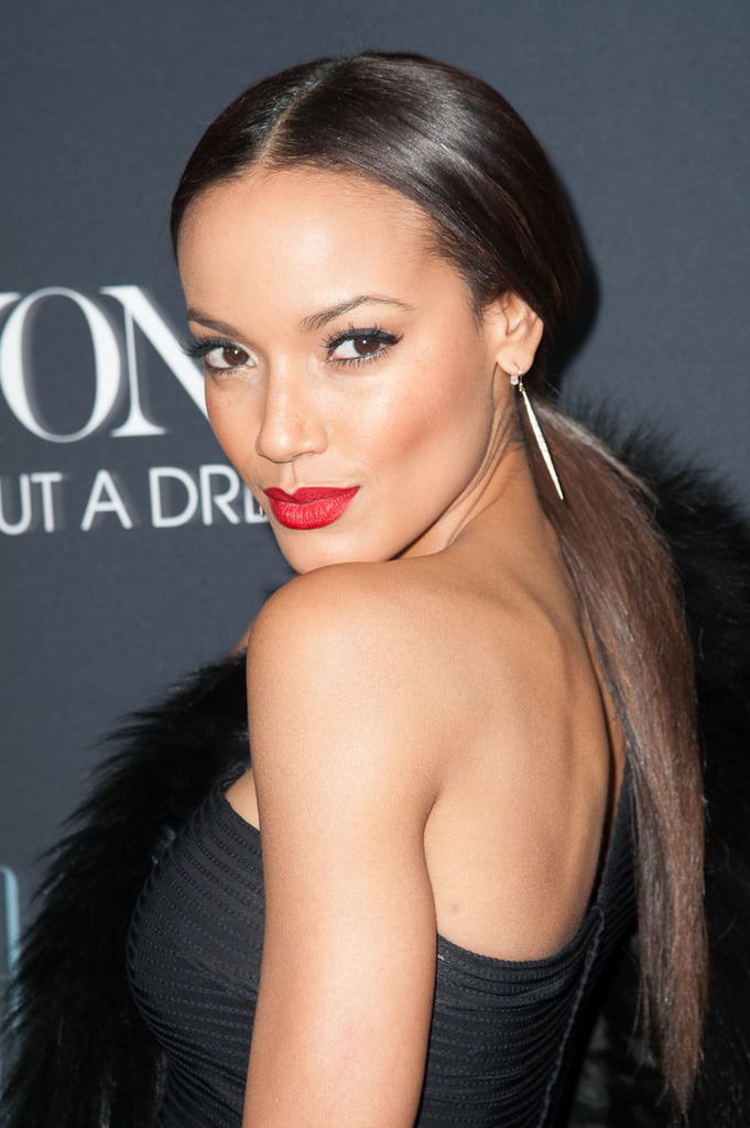Selita Ebanks pulled her sleek, straight hair back into a nape-grazing pony with a middle part at the Beyoncé: Life Is But a Dream premiere. Add a red lipstick for instant glam.