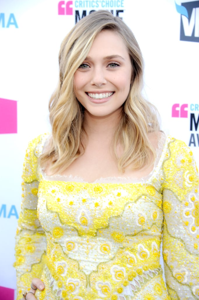 Elizabeth Olsen was all smiles in Pucci.