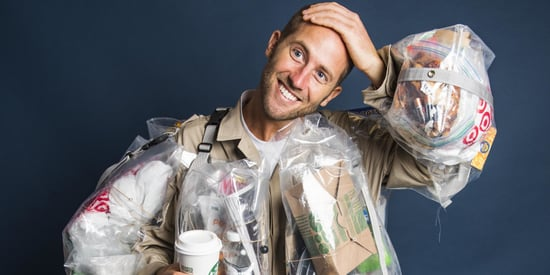 This Guy Is Wearing Every Piece Of Garbage He Generates For A Month