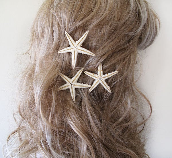 Slip in one or both of these starfish bobby pins ($19) into textured waves for the ideal beach bride style.