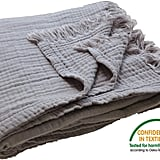 100% Organic Muslin Cotton Throw Blanket