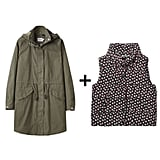 For a more casual look, style your go-to parka with a printed puffer vest.  Steven Alan Seaside Parka ($375) Boy by Band of Outsiders Puffer ($395)