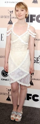 Mia Wasikowska in Rodarte for Opening Ceremony at the 2011 Independent Spirit Awards
