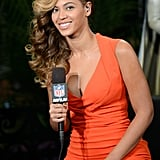 Beyoncé visited Radio Row in New Orleans ahead of the Super Bowl in February to promote her halftime show.