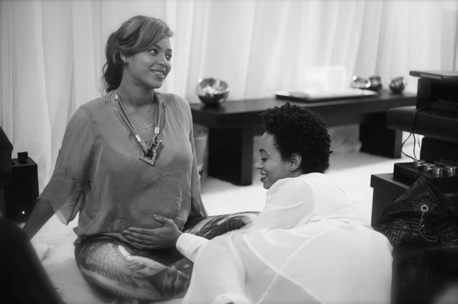 Beyoncé Knowles shared a sweet moment with her sister, Solange.