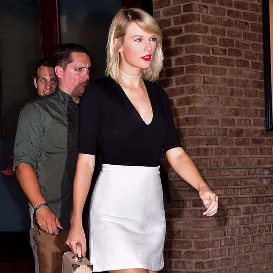 Taylor Swift Wearing a White Skirt September 2016