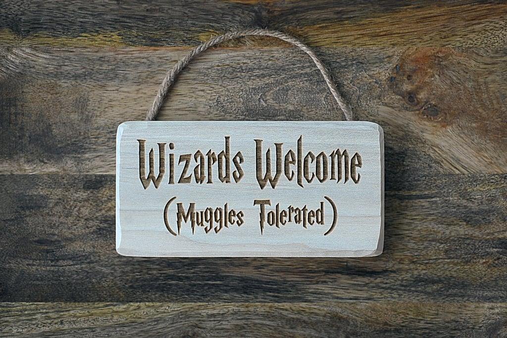 Wizards Welcome Door Hanger