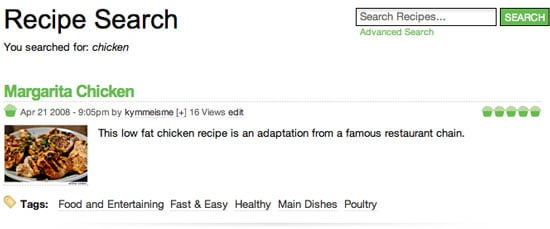 Check Out the Yummy New Recipe Search!