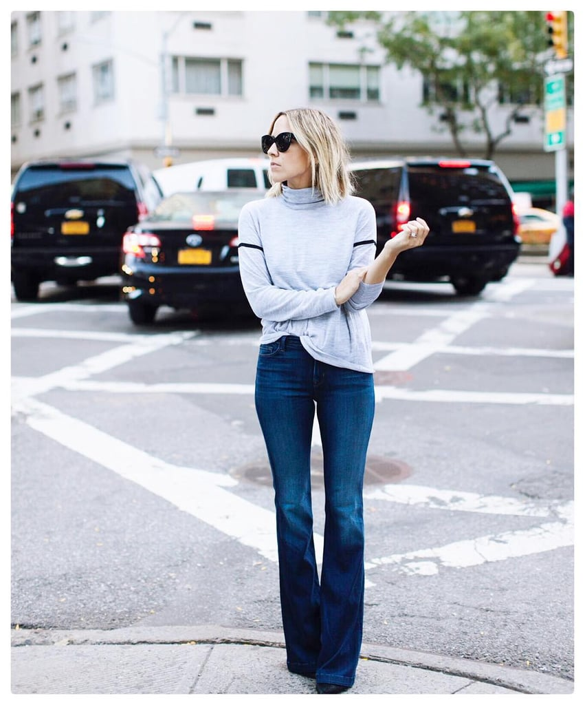 With Flared Jeans