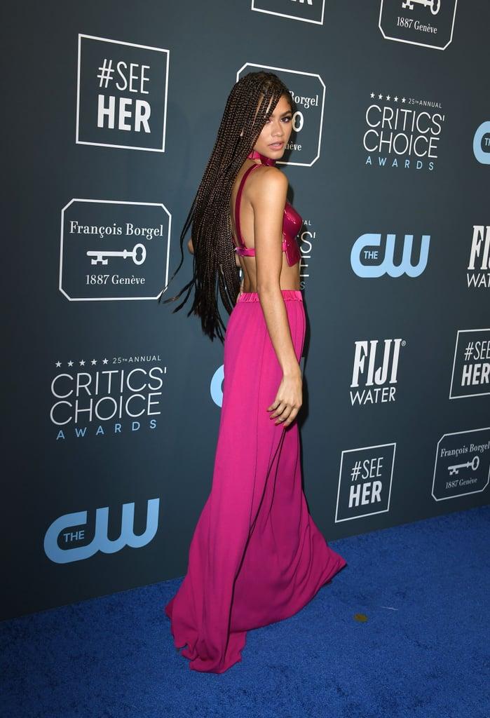 Zendaya's Extralong Braids at the Critics' Choice Awards