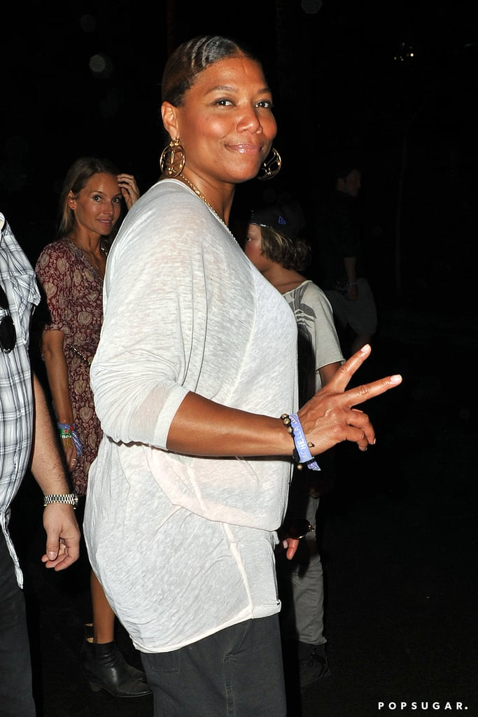 Queen Latifah checked out the festival.