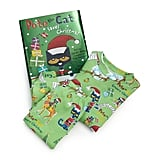 "Books To Bed Toddler's & Little Boy's Three-Piece ""Pete the Cat Saves Christmas"" Pajamas & Book Set"
