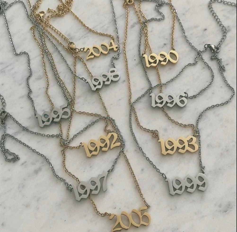 Mazza Boutique Birth Year Necklace